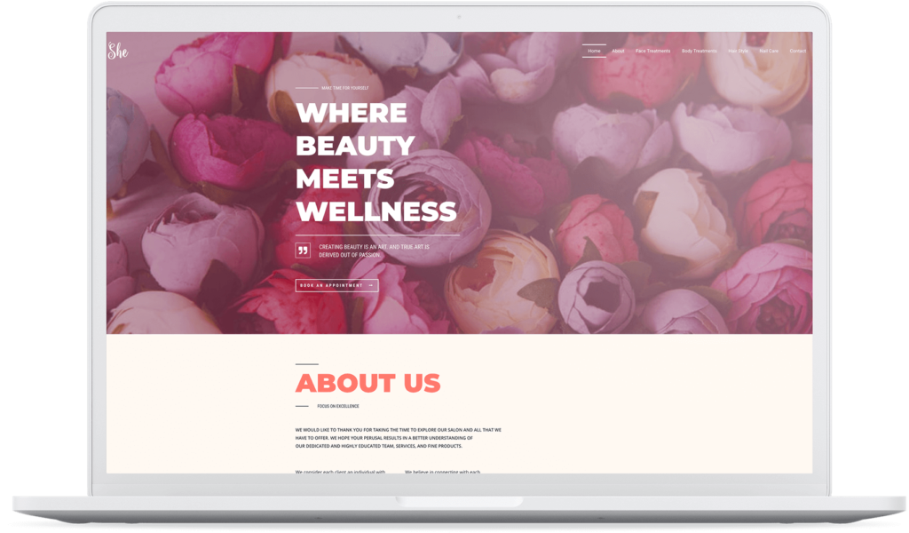 SheBeautyCenter Homepage