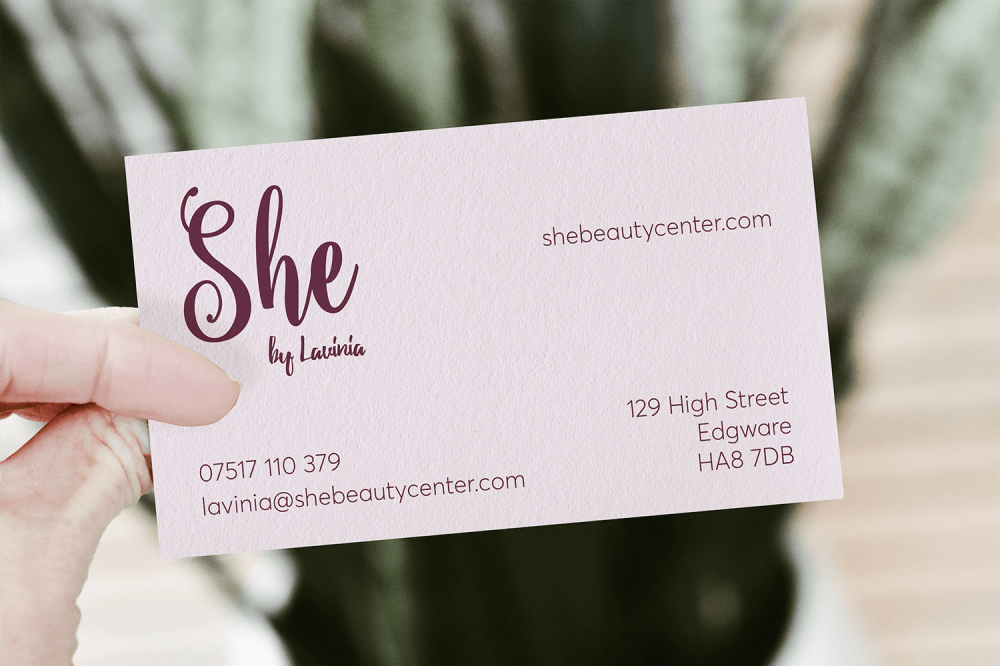 She Beauty Center Business Cards