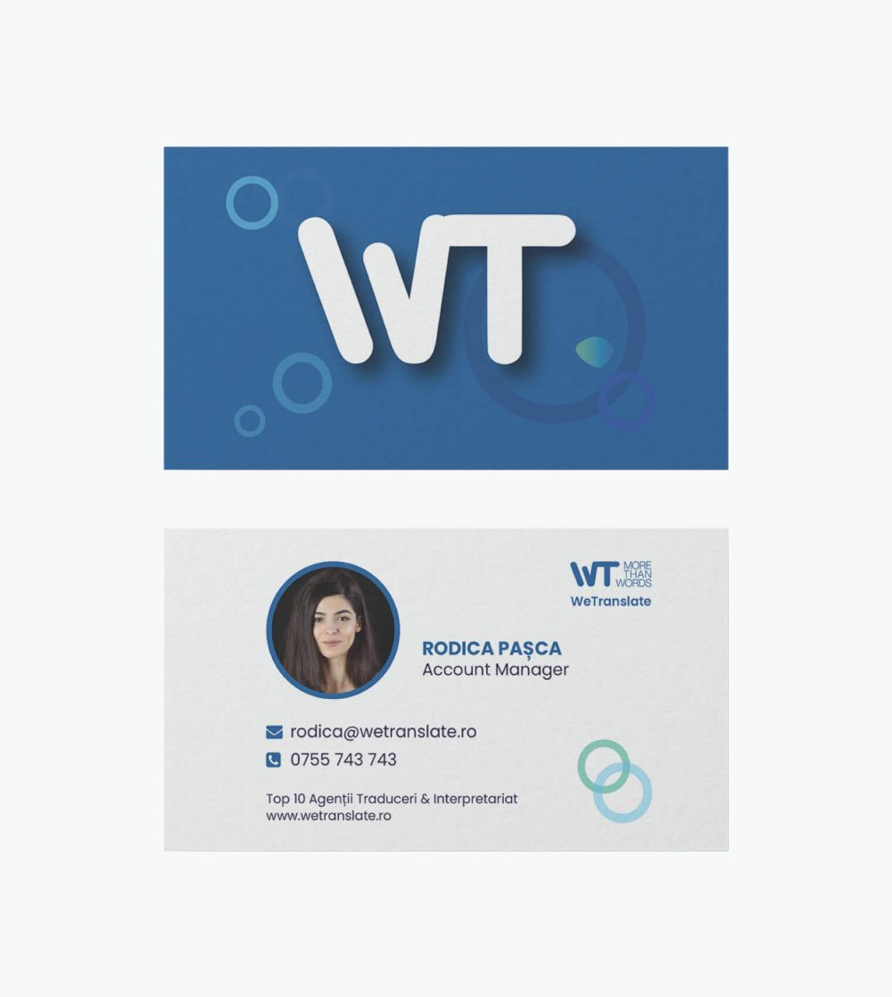 WeTranslate Business Cards