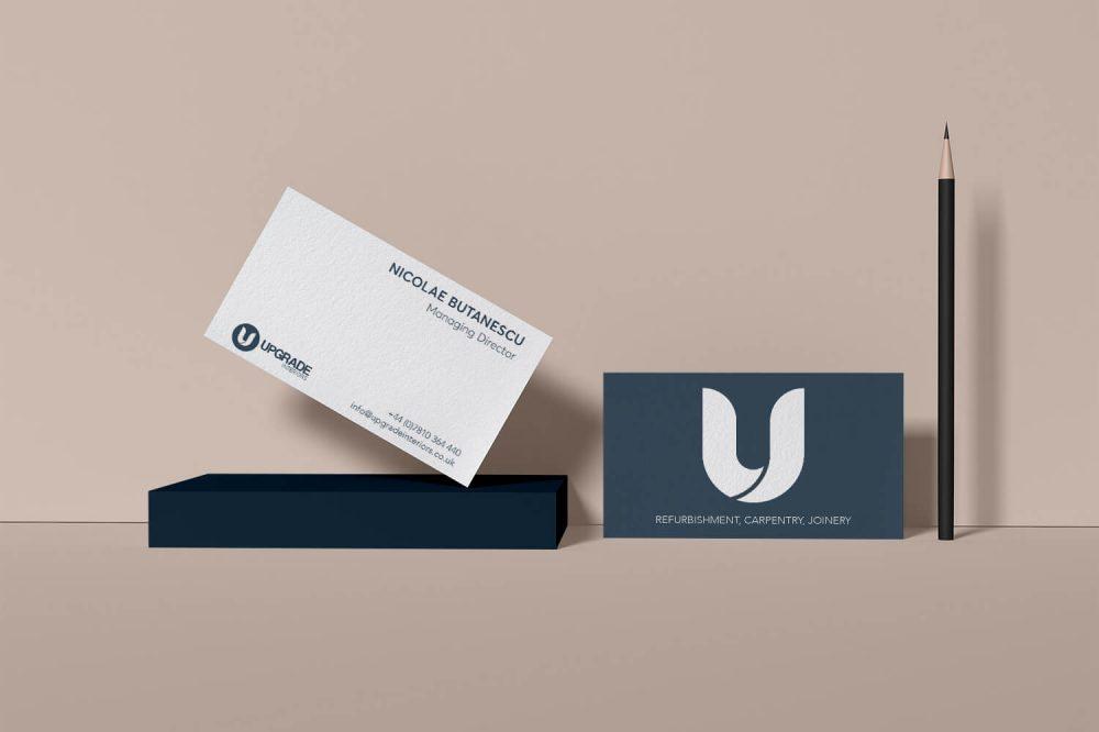 Upgrade Interiors Business Cards