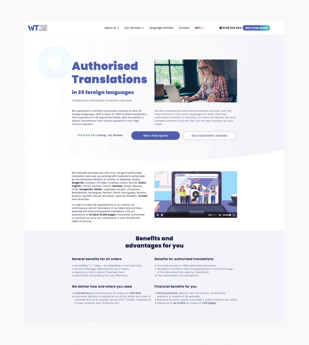 WeTranslate Services