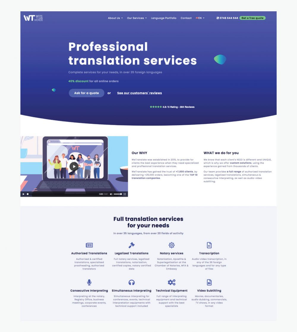 WeTranslate Homepage
